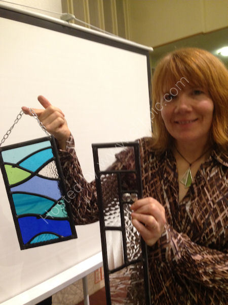 Anna Conti showing stain glass windows 2018