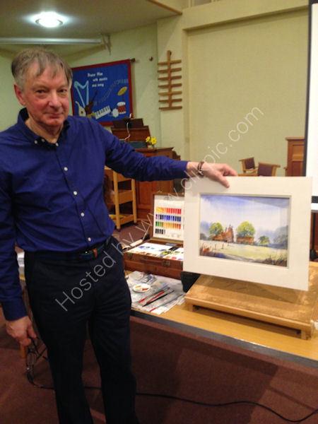 Paul Fullstone Demonstrates using pen and wash 2018