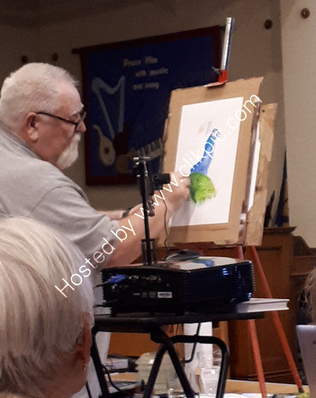 Norman Rossiter demonstrates using Derwent ink pencils
