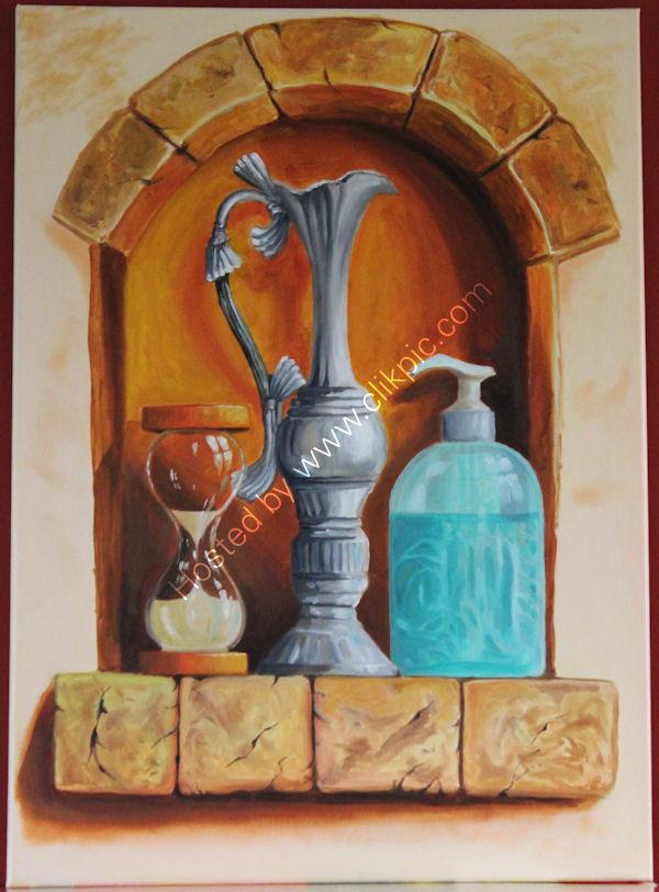 'Oriental Jug', oil on canvas, 69cm (h) x 50cm (w), 27'' (h) x 20'' (w)