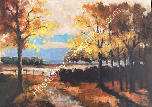Paul Oakley Woodland Painting Finished 2021