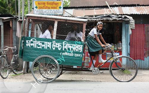 School bus, India