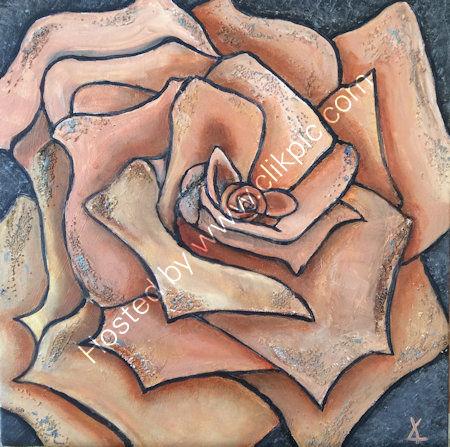 Stone rose - acrylics