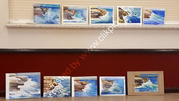 finished class paintings