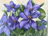 Clematis in Oils