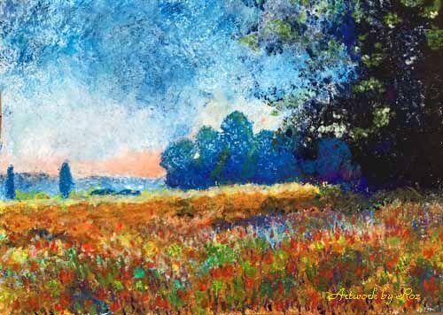 Oat field after Monet