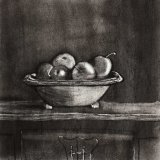 Apples in a bowl Charcoal