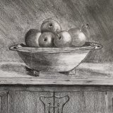 Apples in a bowl Graphite