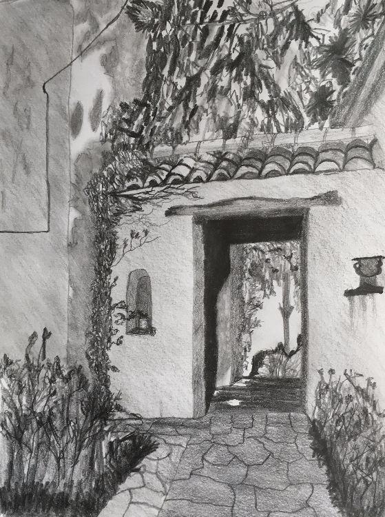 Graphite Spanish Archway