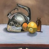 Kettle, Orange and Bottle