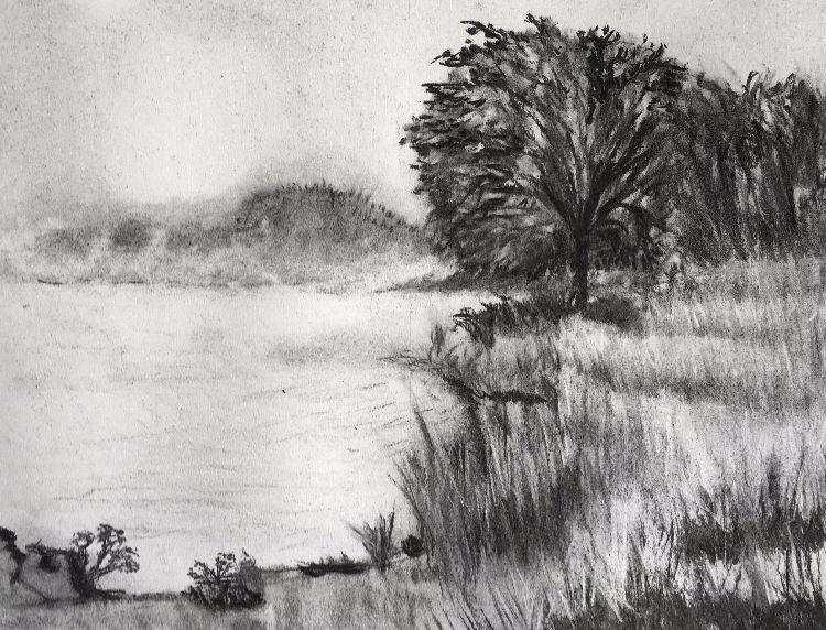 Misty Scene in Charcoal 2