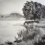 Misty Scene in Charcoal 3
