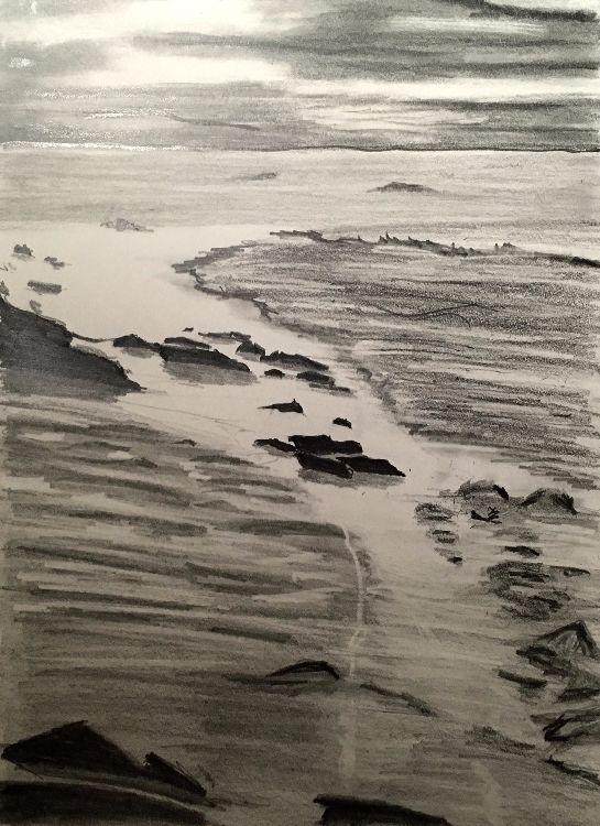 Seascape in Graphite