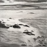 Seascape in charcoal