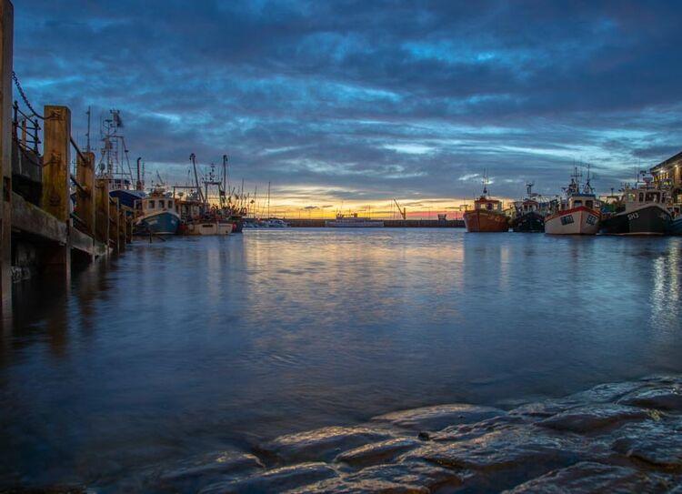 Scarborough Harbour sunrise
