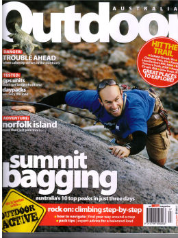 Outdoor Australia Magazine front cover