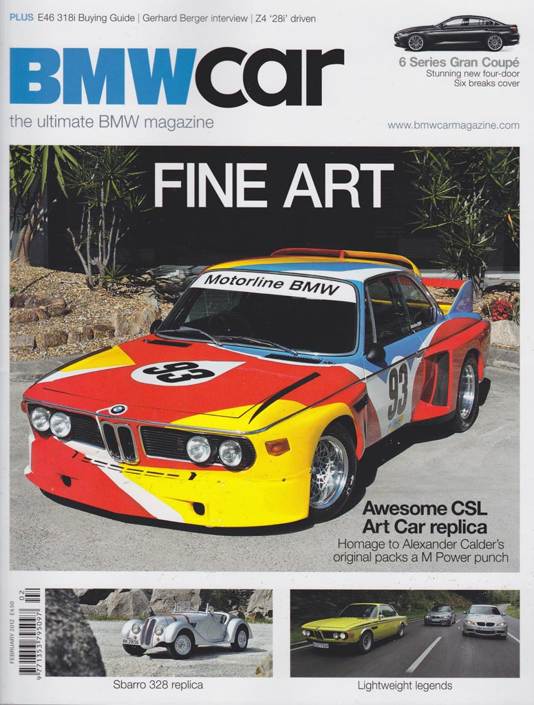 Iain Curry Photography Writing Bmw Car Magazine Feb 2012 Front