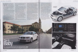 BMW Car Magazine article, 1 Series Active E electric car