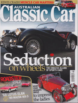Australian Classic Car Magazine, Triumph TR3a front cover photo