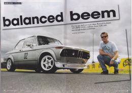 Tarmac Magazine, words & photography article on BMW 2002 racer