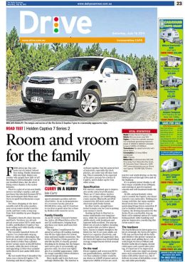 Holden Captiva Road Test, Daily Examiner Newspaper