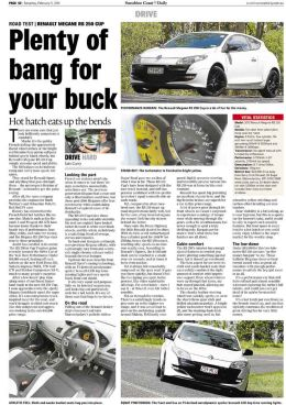 Renault Megane RS250 review, Sunshine Coast Daily Newspaper
