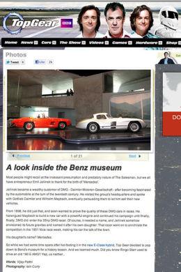 TopGear.com Mercedes Museum article