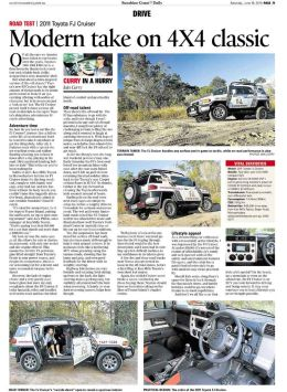 Toyota FJ Cruiser review, Sunshine Coast Daily Newspaper