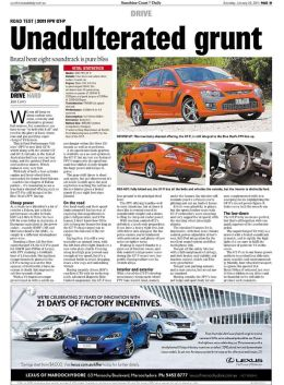 Ford FPV GT review, Sunshine Coast Daily Newspaper