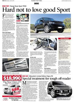 Range Rover Sport review, Sunshine Coast Daily Newspaper