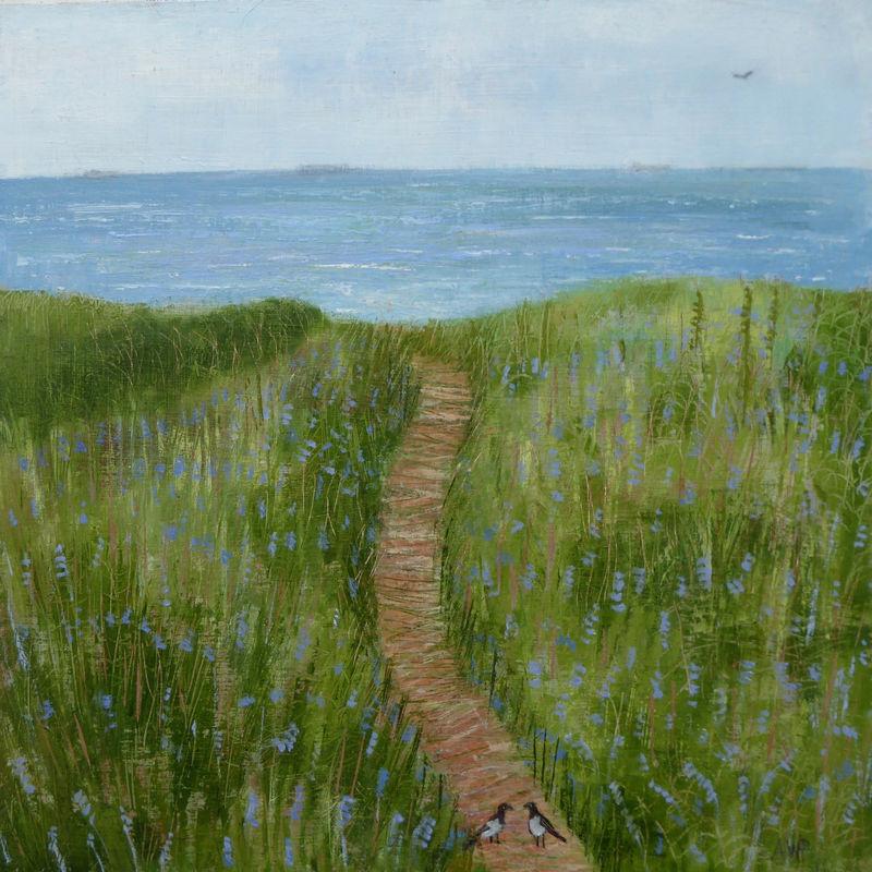 Magpie on the Bracken Path