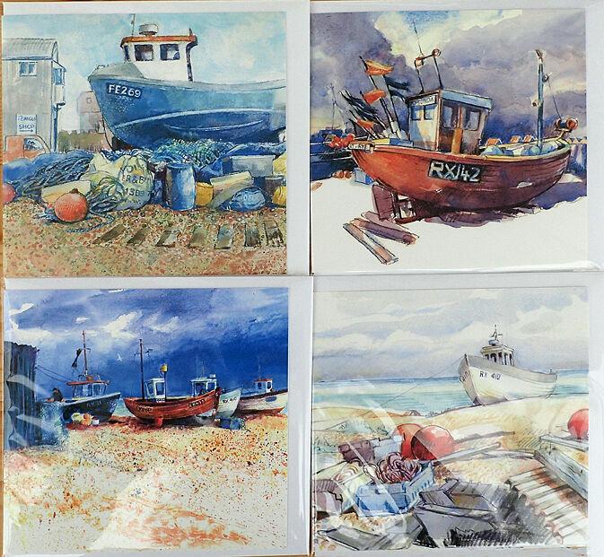 Fishing boat card selection
