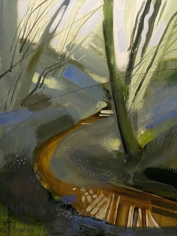Bluebells and Stream