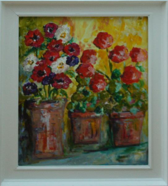 Anemones and Geraniums