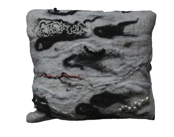 Black and White Mackerel Cushion