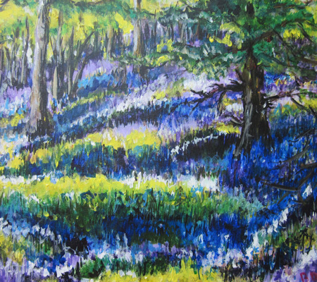 Bluebell Wood - Acrylic Painting