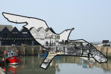 Gull and Whitstable Harbour Cutout