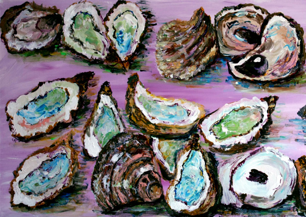 Whitstable Oysters; No. 1 - Acrylic Painting