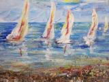 Yachts - Acrylic Painting