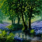 Bluebells with stream
