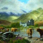 Highland Cattle by Kilchurn Castle