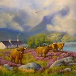 Highland Summer with  Cattle