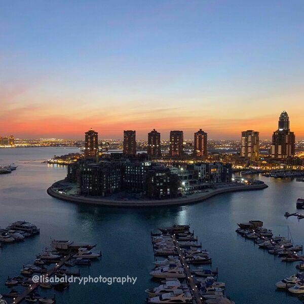 Nature vs Architecture : The Pearl Sunset, Doha
