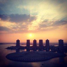 Winter sunset : The Pearl Qatar