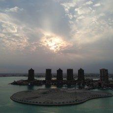 Stormy sky : The Pearl Qatar