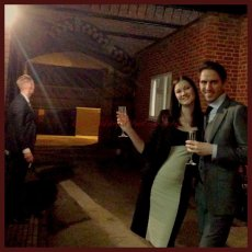 My Jack Vettriano style image : friends, wedding, fun