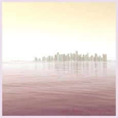 Early morning sunrise over Westbay : Doha, Qatar