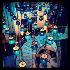 From above : Blue Lights, W Hotel : Doha, Qatar