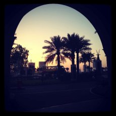 Desert Sunset : Doha, Qatar