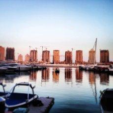 Desert Sunset : Pearl, Qatar